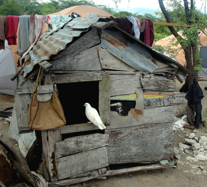 Haiti fishing village house