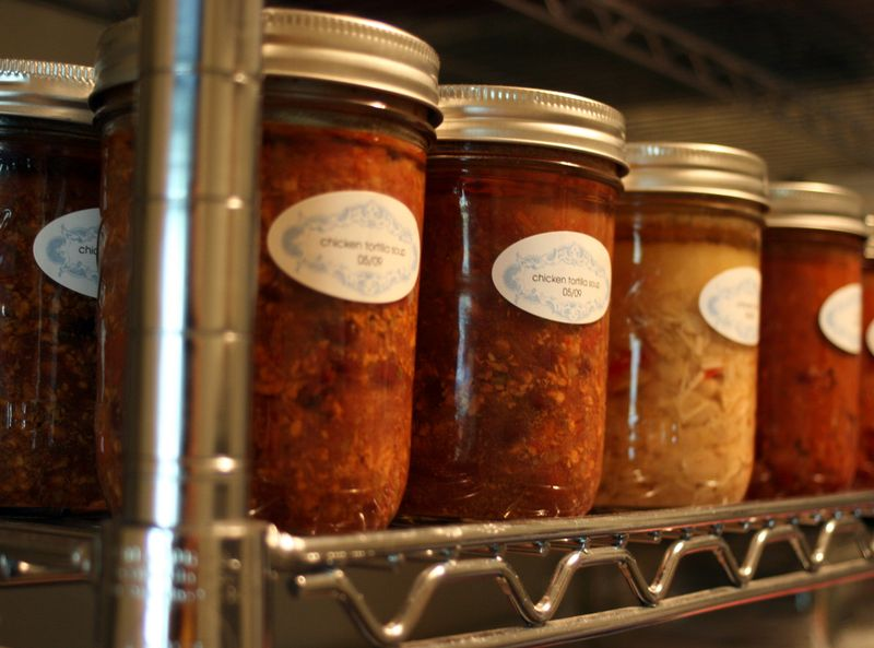 Soups in pantry