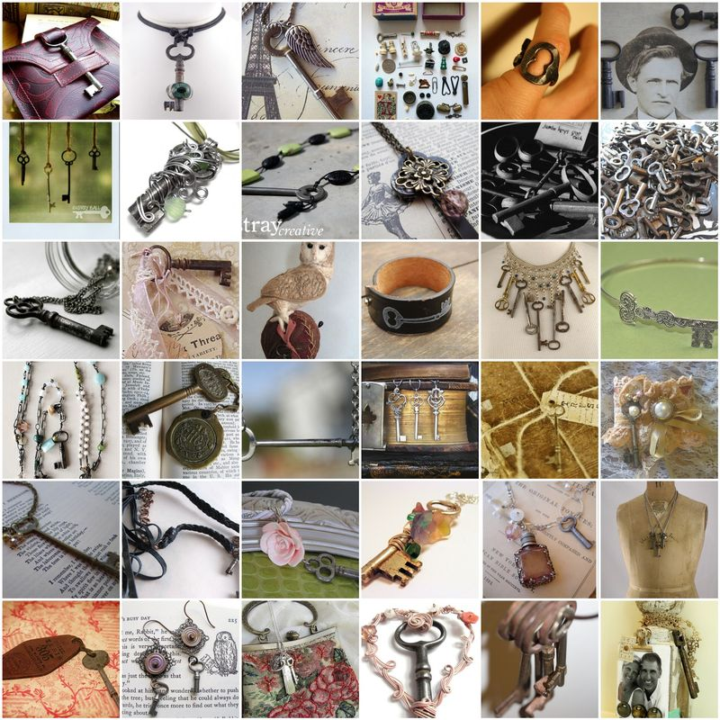Old-key-mosaic