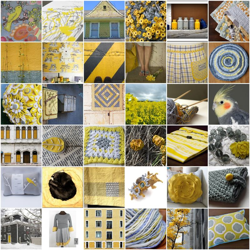 Yellow-and-gray