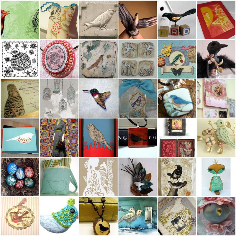 Bird-art-mosaic