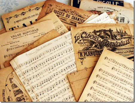 paris findings music sheets